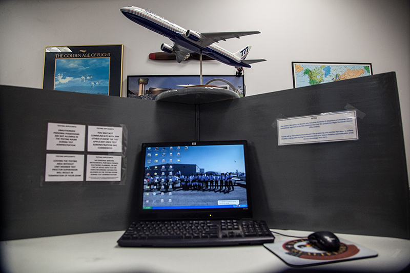 workspace with toy plane