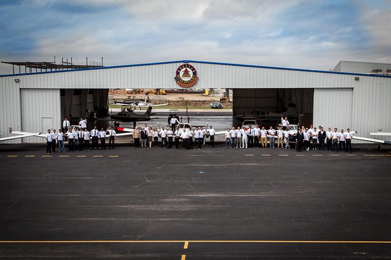 wide view of Delta Qualiflight's hangar
