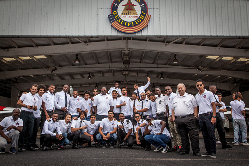 Delta Qualiflight Aviation Academy students and staff
