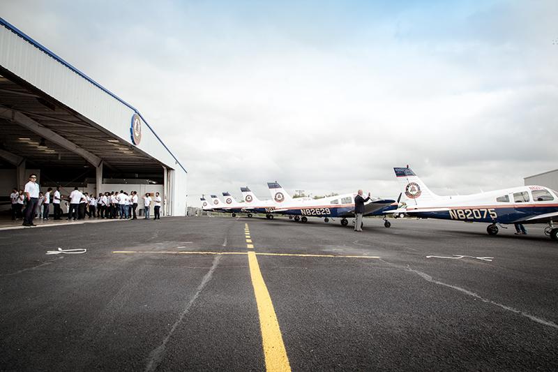 Delta Qualiflight Aviation Academy hangar