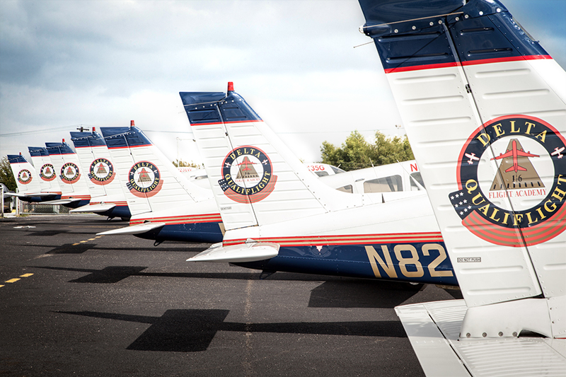 Delta Qualiflight planes