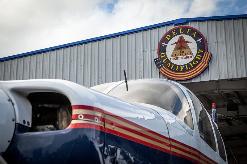 Delta Qualiflight Flight Academy exterior logo