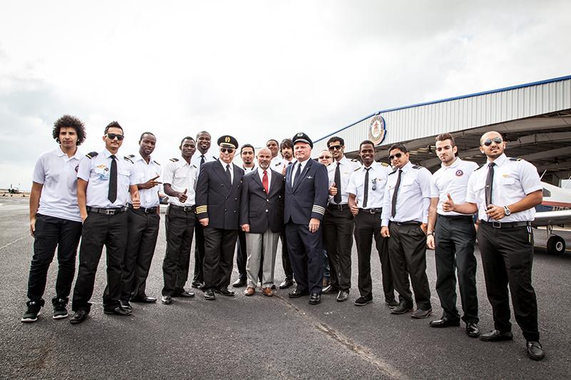 Delta Qualiflight Flight School staff and students