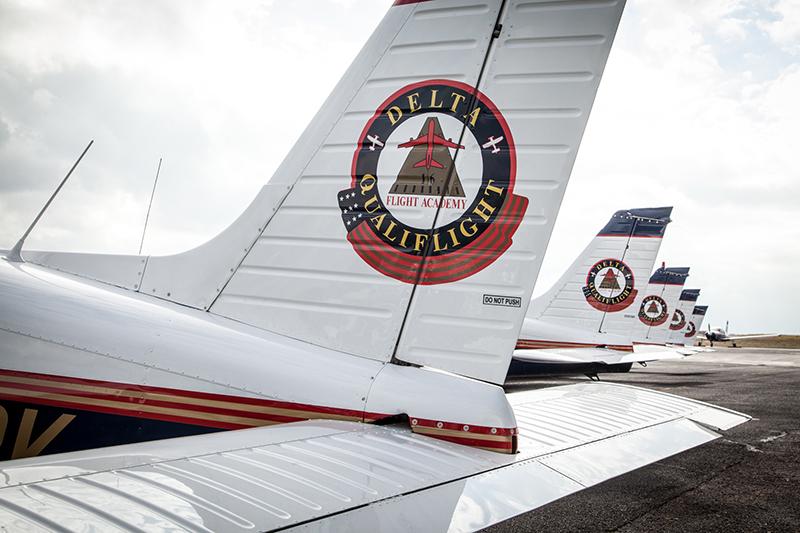 Delta Qualiflight Aviation Academy planes